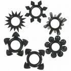 Tower Of Power C Rings 6 Pack - Black	 Sex Toy Product