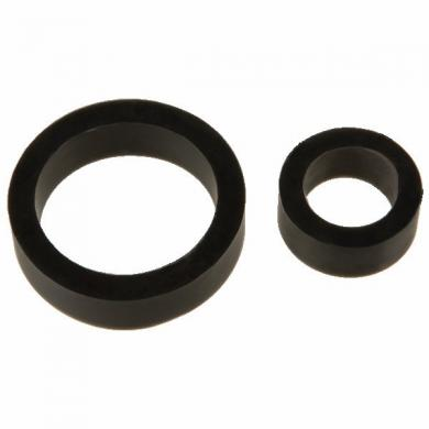 James Deen Silicone Cock Rings Dbl Pack Black