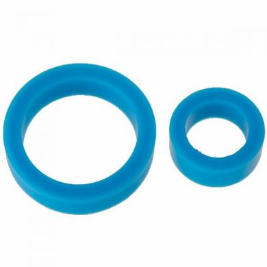 James Deen Silicone Cock Rings Dbl Pack Blue