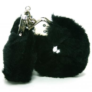 Love Cuffs Plush Black Sex Toy Product