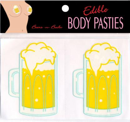 Edible Body Pasties Beer N Boobs
