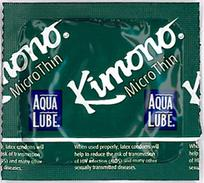 Kimono Microthin Latex Condoms Aqua Lube