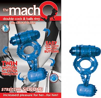 Macho Double Cock and Balls Ring Sex Toy Product