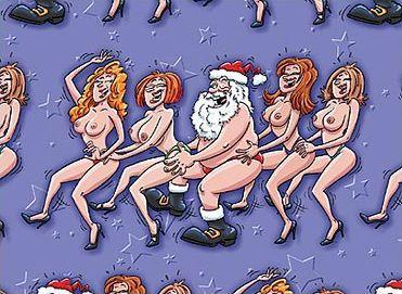 Santa & Topless Girls - Gift Wrap Sex Toy Product