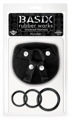 Basix Rubber Works Universal Harness Plus Size Sex Toy Product
