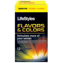 Lifestyles Asst Flavor Colors 12 Pack