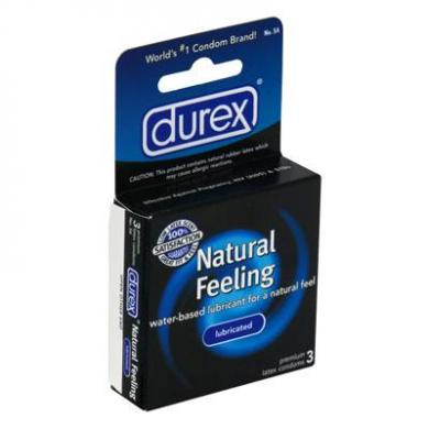 Durex Natural Feeling Lubricated 3pk