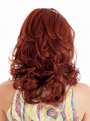 Angel Shoulder Length Full Bang Fun Red