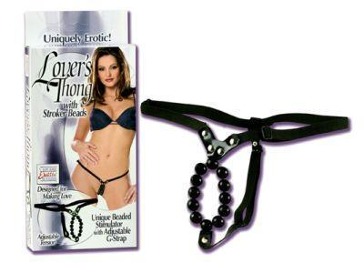 Lover's Thong w/Stroker Beads Sex Toy Product
