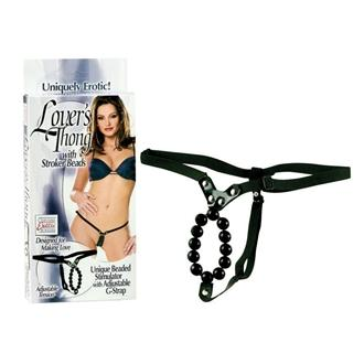 Lover's Thong w/Stroker Beads