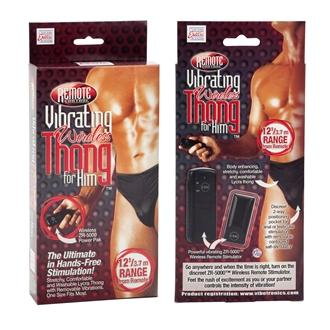 Remote Control Vibrating Wireless Thong For Him