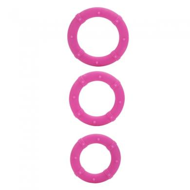 Posh Silicone Love Rings Pink