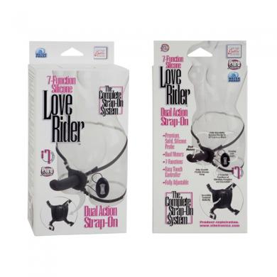 Love Rider Dual Action Strap On Black