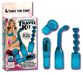 Waterproof Travel Kit Mini-Massager - Teal