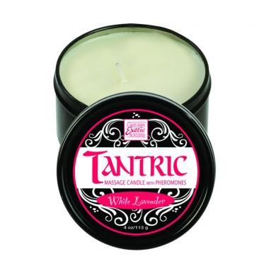 Tantric Soy Massage Candle W/PheromonesWhite Lavender