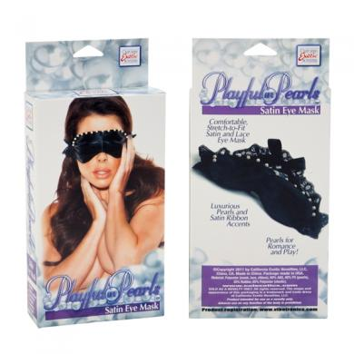 Playful In Pearls Satin Eye Mask