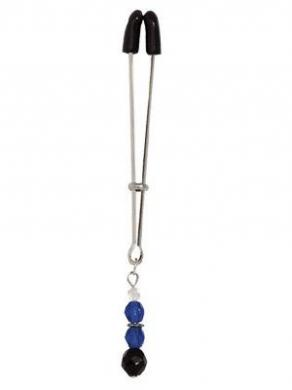 Tweezer Clit Clamp W/Blue Beads