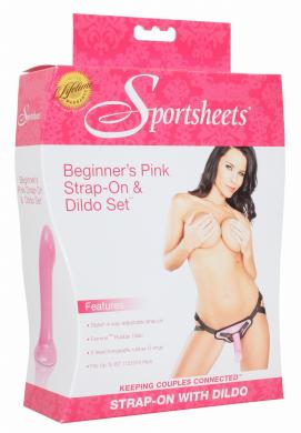 BeginnerS Pink Harness/Dildo Kit