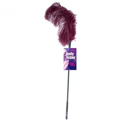 Ostrich feather ticklers - burgundy