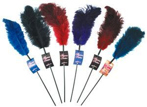 Ostrich feather ticklers - Blue