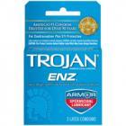 Trojan Condom Enz With Spermicidal Lubricant 3 Pack