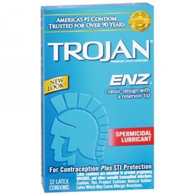 Trojan Enz Spermicidal 12 Pack