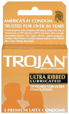Trojan ribbed 1 - 3 pack