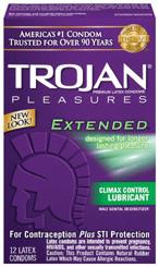 Trojan Extended Pleasure 12Pk Sex Toy Product