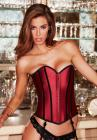 Satin Heart Corset Red Black L Sex Toy Product
