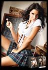 School Girl Top Plaid Skirt Set White, Blue O/S Sex Toy Product