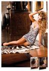 Light Pink Zebra Lace Halter Dress O/S