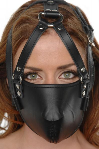 Strict Leather Face Harness Black Sex Toy Product