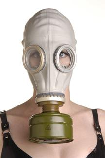 Rubber Gas Mask Hood Sex Toy Product