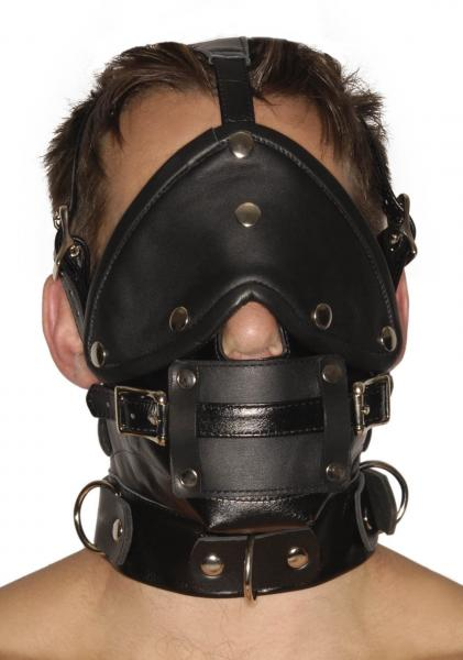 Strict Leather Premium Muzzle With Blindfold And Gags Sex Toy Product