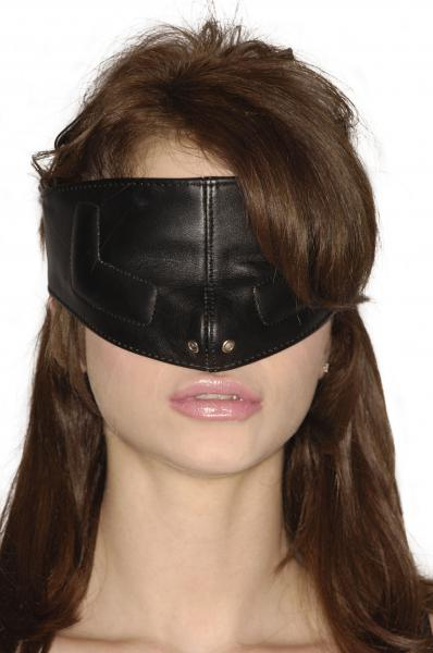 Strict Leather Upper Face Mask Black M/L Sex Toy Product