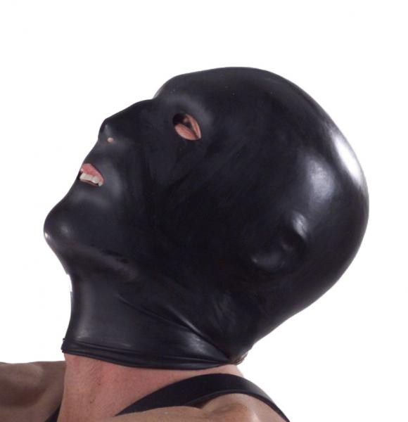 Black Hood With Eye, Mouth And Nose Holes Sex Toy Product