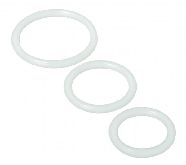 Trinity Silicone Cock Rings - Clear Sex Toy Product