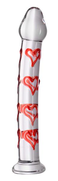Hearts Of Desire Textured Glass Dildo Sex Toy Product