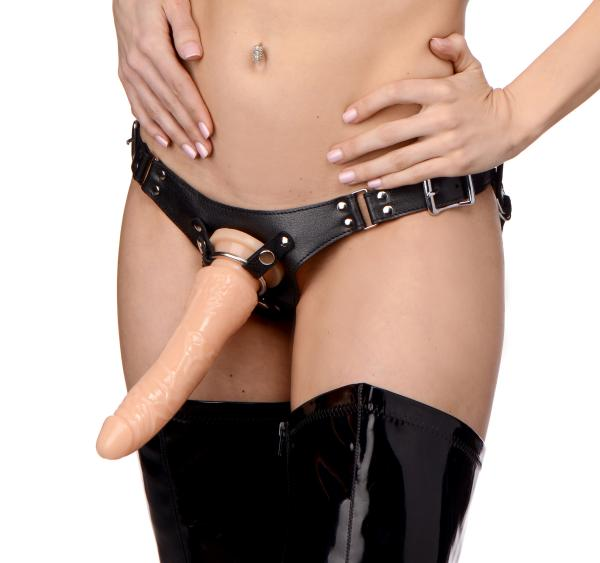 Dominance Leather Strap On Harness Sex Toy Product