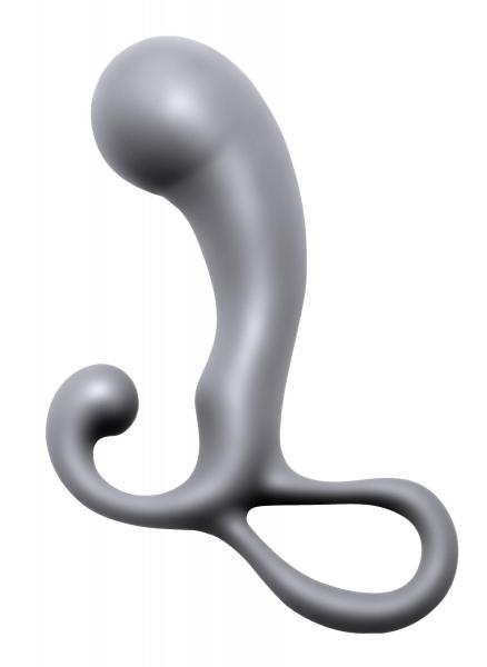 Prostatic Play Crusade Prostate Plug Angled Head Gray Sex Toy Product