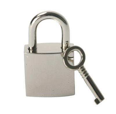 Chrome Lock with 2 Keys Sex Toy Product