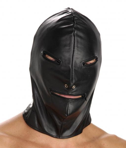 Strict Leather Basic Zipper Hood Black Sex Toy Product