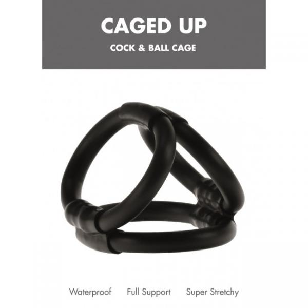 Caged Up Cock Cage Black Linx