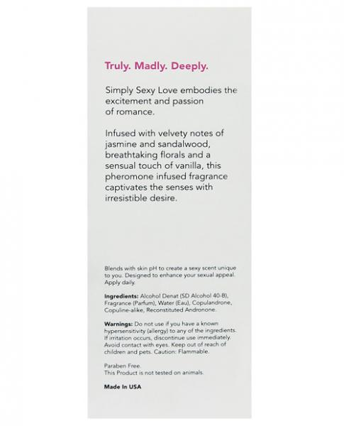 Simply Sexy Love Pheromone Infused Perfume .34oz