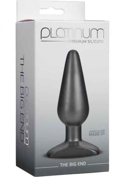 Platinum Premium Silicone The Big End Charcoal Plug