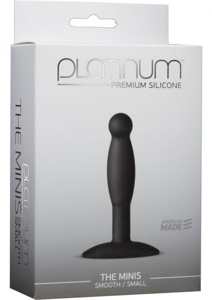 Platinum Silicone The Minis Small Anal Plug Black 3 Inch