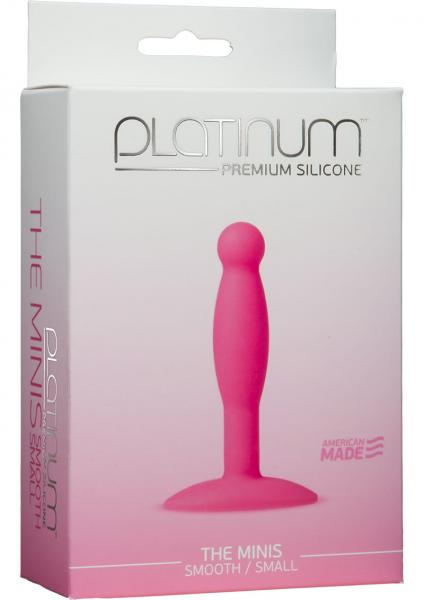 Platinum Silicone The Minis Small Anal Plug Pink