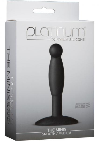 Platinum Silicone The Minis Medium Anal Plug Black 3.6 Inch