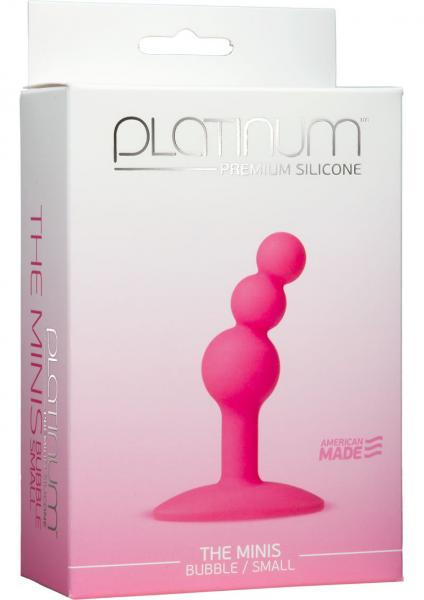 Platinum Silicone The Minis Bubble Butt Plug Pink Small