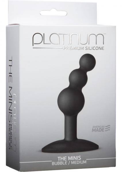 Platinum Silicone The Minis Bubble Butt Plug Black Medium